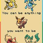 Eevee Motivational Poster - Dreamer! by NumberIX