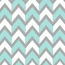 Minty Chevrons by Beth Thompson