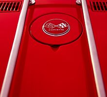 Red Corvette gas tank emblem by htrdesigns