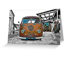 VW Split Screen Greeting Card