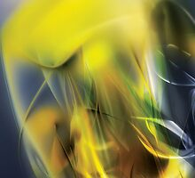 Digital abstract yellow wave background by Maciej Frolow