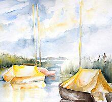Sailboats Awakening by Barbara Pommerenke