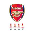 Arsenal, legends (Subbuteo) by Stephen Knowles