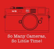 "M9 ""So Many Cameras, So Little Time!"" T Shirt by David Jenkins"