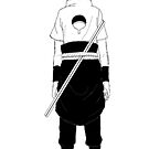 Sasuke Back- iPhone Case by squidkid