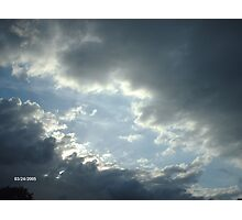 Breaking Clouds Photographic Print