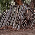 Wagon Wheel and Cart Circa 1850&#x27;s by Ronald Rockman