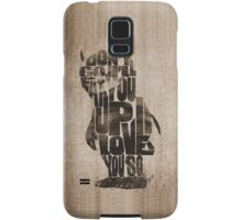 Where The Wild Things Are Typography Samsung Galaxy Case/Skin