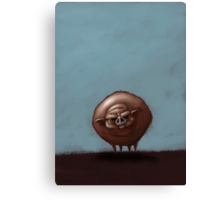 Grumpy Old Fat Pig with Nose Ring Canvas Print