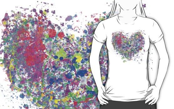 Paint splatter heart by BekkiAsquith