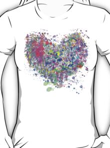 Paint splatter heart T-Shirt