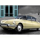 Citroen DS Poster Illustration by Autographics