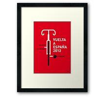 MY VUELTA A ESPANA 2012 MINIMAL POSTER Framed Print