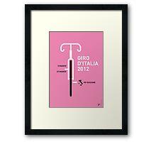 MY GIRO D'ITALIA 2012 MINIMAL POSTER Framed Print