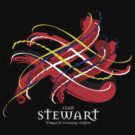 Clan Stewart Tartan Twist by eyemac24