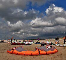 Kites on the beach by Adri  Padmos