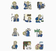 Fallout 3 : Trophy Stickers 1-12 by Eugenenoguera