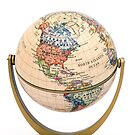Mini Globe on stand tilted North America by totorat