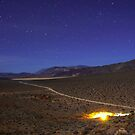 Overhead Death Valley Desert Lit by Moonlight and Stars by Gavin Heffernan