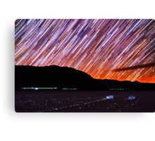Star Trails Over Death Valley Racetrack Playa Canvas Print