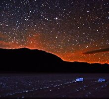 Starscape over Death Valley Sliding Stones by Gavin Heffernan