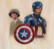 stay who you are, not a perfect soldier, but a good man... Captain America by Colleen Moran