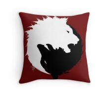 The Wolf and The Lion Throw Pillow