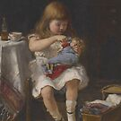 An Anxious Mother (oil on canvas) by Bridgeman Art Library