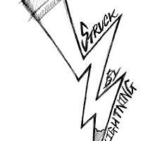 struck by (writing) lightning. by J-something