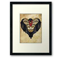 Mama Bird Tattoo Design Framed Print