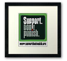Support Don't Punish (large logo) Framed Print