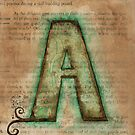 The Letter A - Watercolor by Julie Hartman