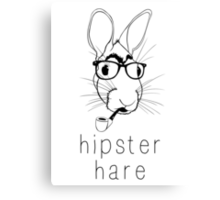 Hipster Hare Canvas Print