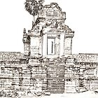 Angkor Temple Sketch by Adam  Hurley