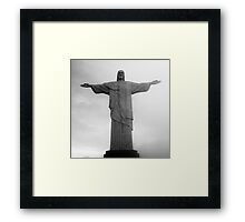 Cristo Redentor in rainclouds Framed Print