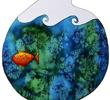 Gold Fish in Bowl by Julie Nicholls