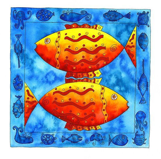Two Fish Square by Julie Nicholls