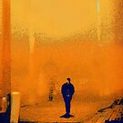 yellow morn. train station by Nikolay Semyonov
