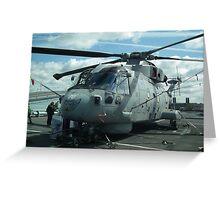 Royal Navy Merlin HM1 Greeting Card