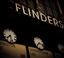 Flinders St Station clocks... by Andrew Wilson by Shot in the Heart of Melbourne, 2013