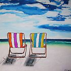 Beach Chair Delight by gillsart
