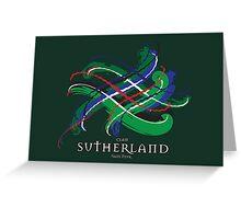 Sutherland Tartan Twist Greeting Card