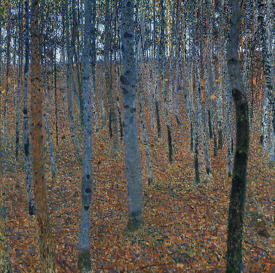 Gustav Klimt - Beech Grove I by TilenHrovatic