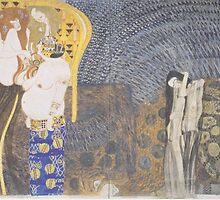 Gustav Klimt - Beethoven Frieze by TilenHrovatic