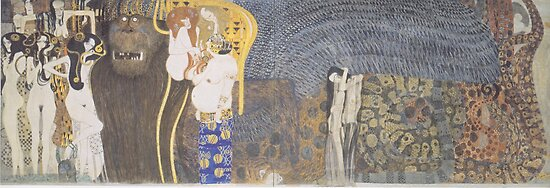 Gustav Klimt - Beethoven Frieze by TilenHrovatic