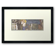 Gustav Klimt - Beethoven Frieze Framed Print