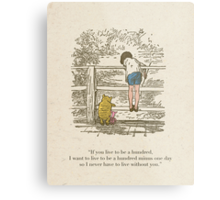 Winnie the Pooh & Friends Metal Print