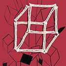 hypercube (red) by WOOLLOVER