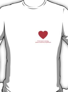 Heart Missing Guys Valentines T-Shirt
