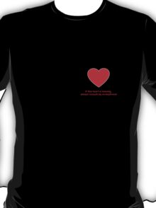 Heart Missing Girls Valentines T-Shirt